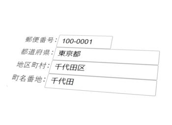 WEBページで郵便番号から住所を自動入力するライブラリ「YubinBango」